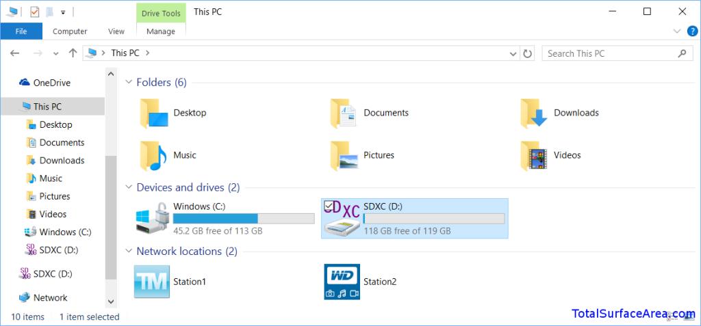 File Explorer; Inserted MicroSD