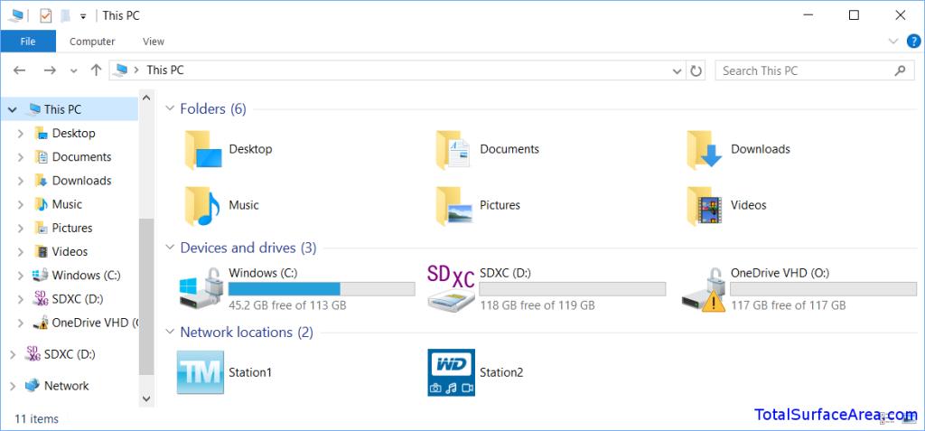 OneDrive VHD Mounted