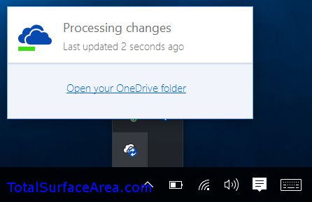 Processing Changes Notification