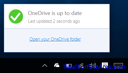 OneDrive Up To Date Notification